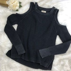 Hollister Cold Shoulder Knit Sweater Sz M ::A11